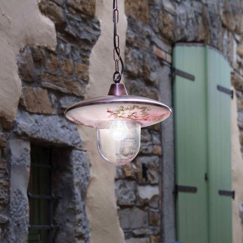 lampada a sospensione / classica / in ceramica / in vetro