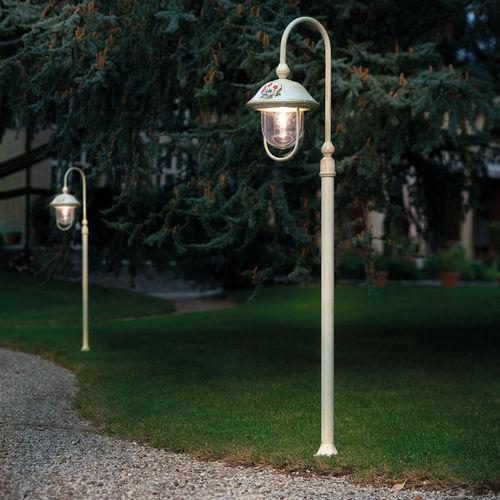 lampione da giardino / classico / in metallo / in ceramica