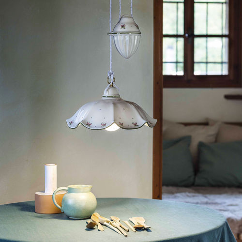 lampada a sospensione / classica / in vetro / da esterno