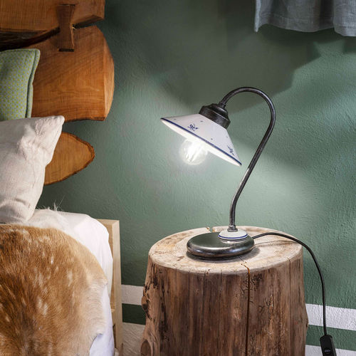 lampada da tavolo / classica / in metallo / in ceramica