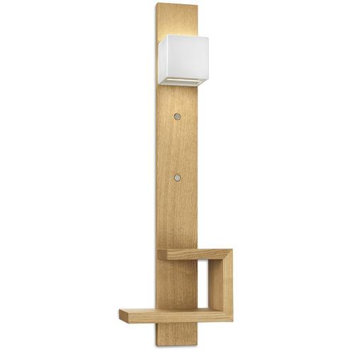applique moderna / in legno / a incandescenza / quadrata