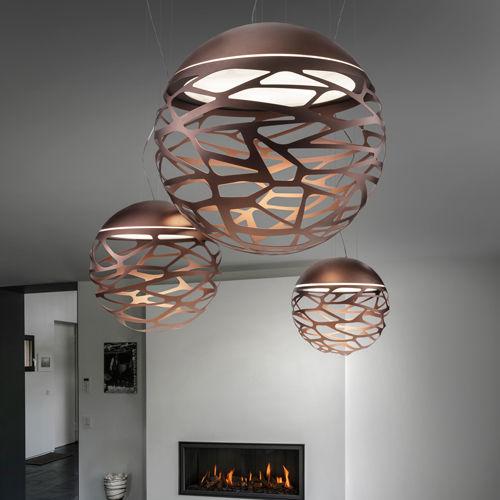 Lampada a sospensione / design originale / in vetro / in metallo ...