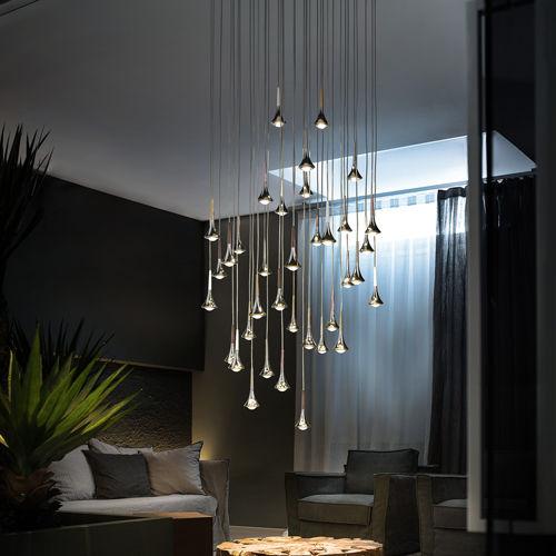 Lampada a sospensione / design originale / in metallo ...