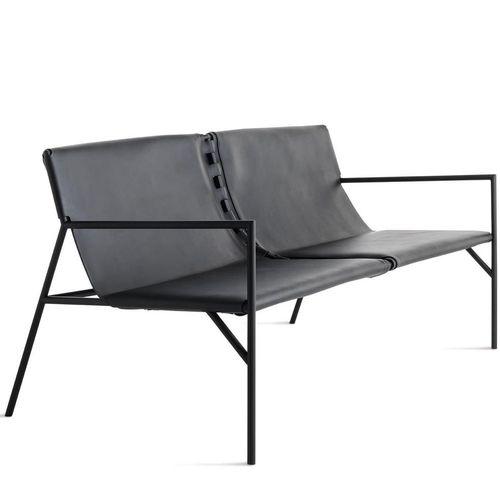panca design minimalista / in metallo / in marmo / in pelle