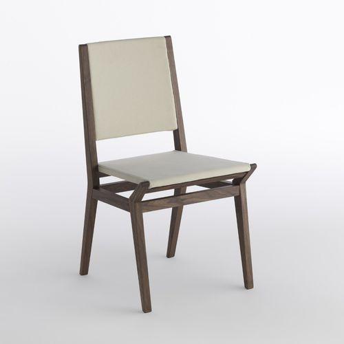 sedia moderna / imbottita / in legno massiccio