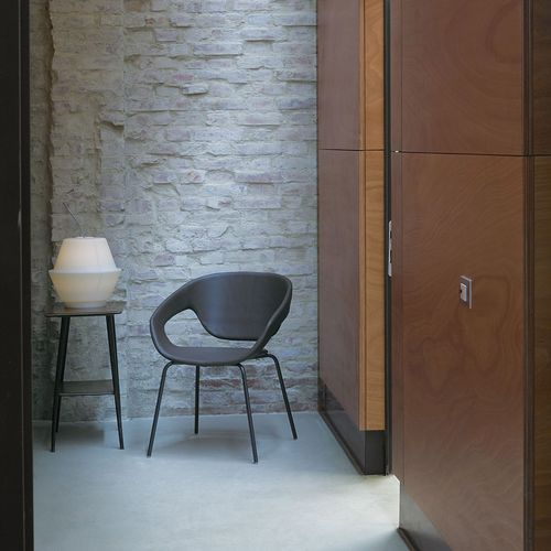sedia moderna / imbottita / con braccioli / girevole