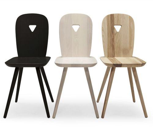 sedia moderna / in frassino / di Luca Nichetto