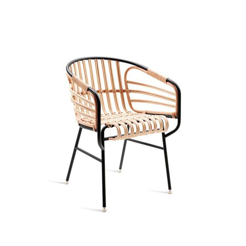 sedia moderna / con braccioli / in rattan / in vimini