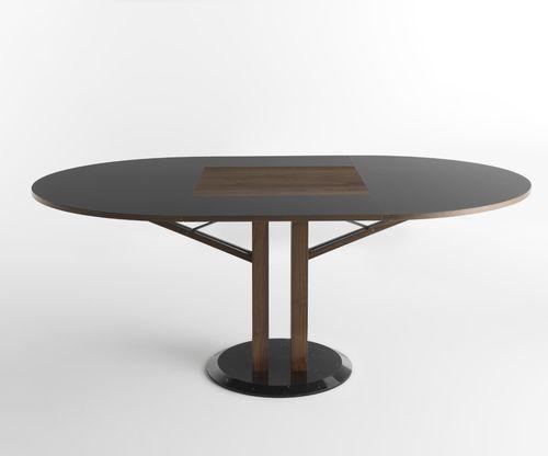 tavolo moderno / in legno / tondo / allungabile