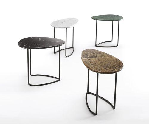 tavolo d'appoggio moderno / in marmo