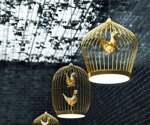 lampada a sospensione / design originale / in metallo / in policarbonato