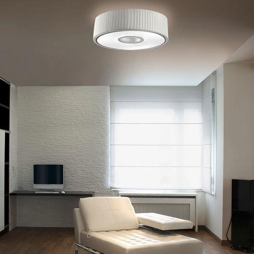 Plafoniera moderna / rotonda / in acciaio / in tessuto SPIN by Nahtrang Design Leds-C4