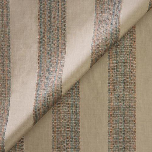 tessuto per tende / a righe / con motivo iridescente / in cotone