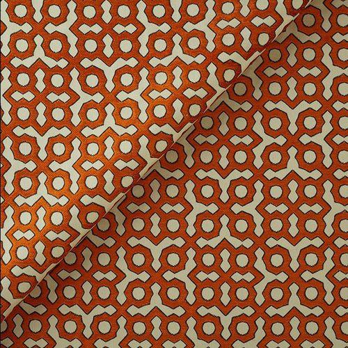 tessuto da tappezzeria / per tende / motivo geometrico / in cotone