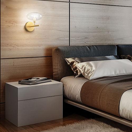 applique moderna / in metallo / in vetro / LED