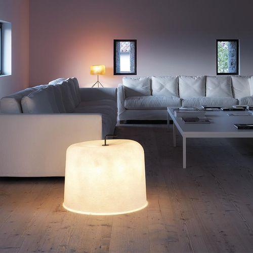 lampada da pavimento / moderna / in metallo verniciato / in fibra di vetro