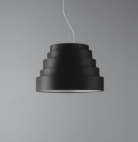 lampada a sospensione / moderna / in metallo verniciato / in tela