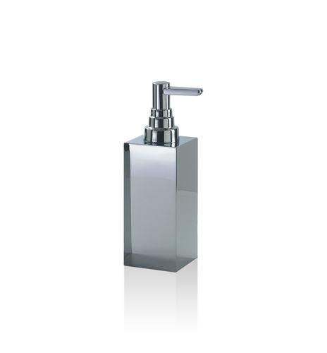 distributore di sapone da parete / in ottone cromato / manuale