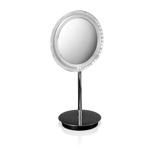 specchio da appoggio / luminoso a LED / moderno / tondo