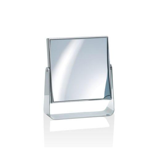 specchio da appoggio / moderno / quadrato / in ottone cromato