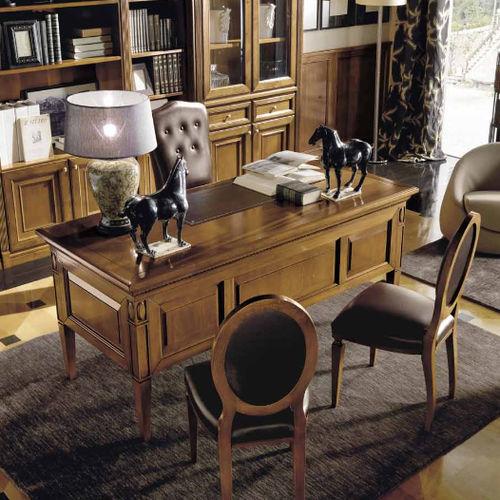 scrivania in ciliegio / classica / contract / con vano contenitore