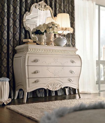 cassettone classico / in legno laccato / bianco