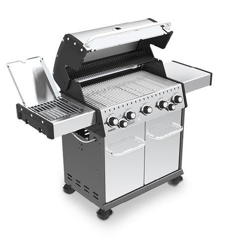 barbecue a gas / con rotelle / in alluminio / in ghisa