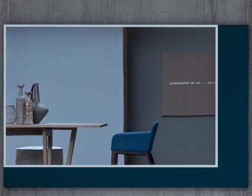 specchio a muro / moderno / rettangolare / in legno laccato