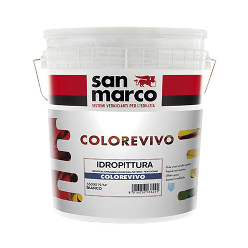 pittura di finitura / per muro / per interni / a base d'acqua