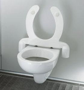 WC sospeso / in ceramica / con sciacquone ad incastro / per bagno ...