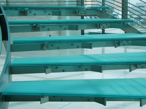 pannello in vetro float / per gradini / antiscivolo / traslucido