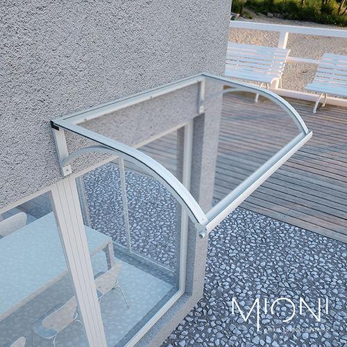 pensilina per porta / per finestra / per scala esterna / in alluminio