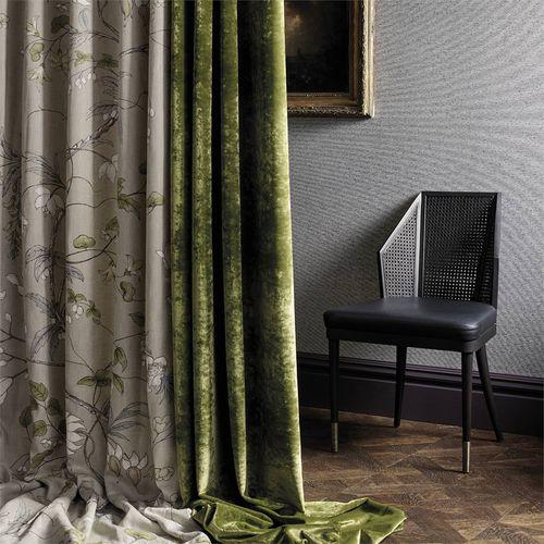 tessuto per tende / con motivi naturali / in lino / con motivo stampato
