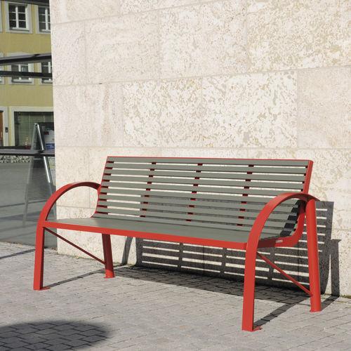 panca pubblica / moderna / in alluminio / in acciaio inox