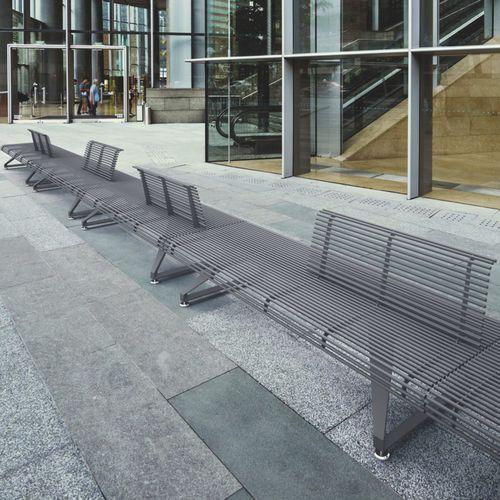 panca pubblica / moderna / in acciaio / in alluminio