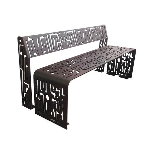 panca pubblica / design originale / in acciaio galvanizzato / in acciaio COR-TEN®