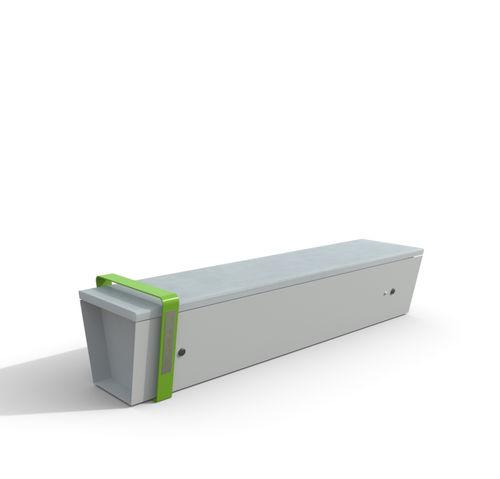panca connessa / pubblica / moderna / in legno