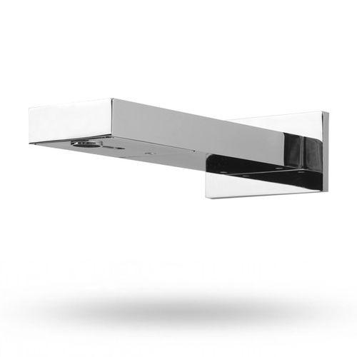 rubinetto per lavabo / da parete / in metallo / elettronico