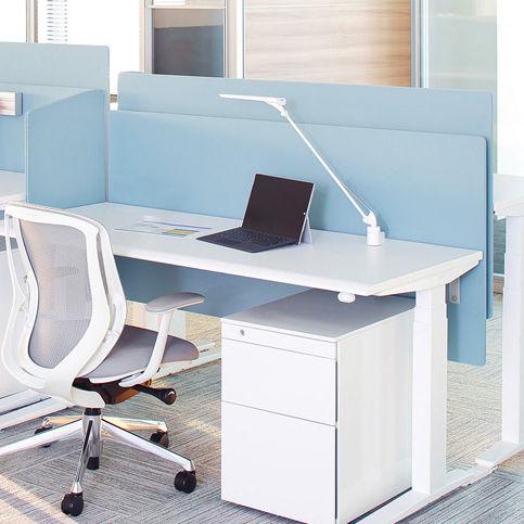 scrivania per open space / in laminato / in metallo / moderna