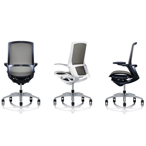 poltrona da ufficio moderna / in rete / alluminio / con rotelle