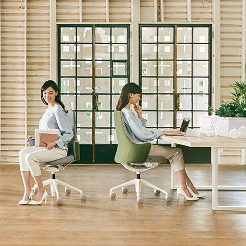 poltrona da ufficio moderna / in tessuto / con rotelle / con base a stella