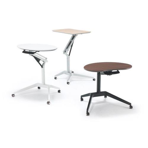 scrivania portacomputer moderna / in legno / in metallo / rettangolare