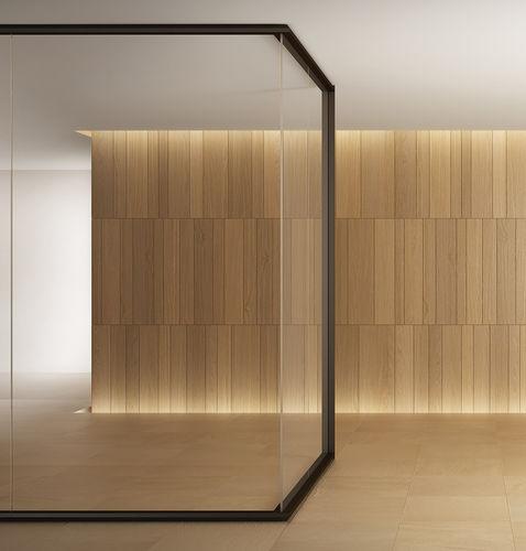 parete smontabile / in alluminio / in policarbonato / ad uso professionale