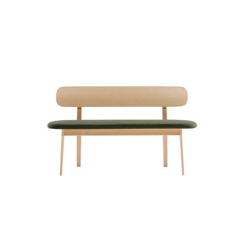 panca moderna / in legno / con schienale / imbottita