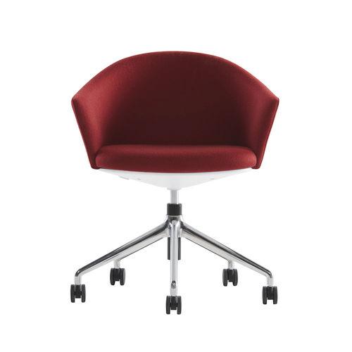 sedia da ufficio moderna / con rotelle / con base a stella / imbottita