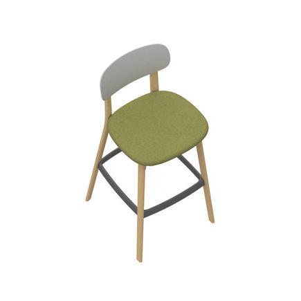 seggiolone standard / legno / in plastica / contract