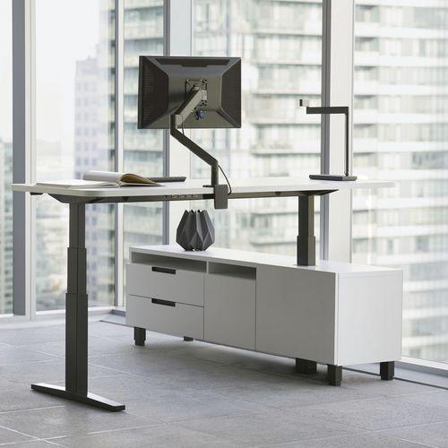 scrivania in metallo / moderna / contract / con vano contenitore
