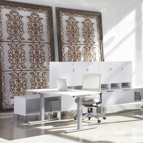 tavolo da lavoro moderno / in laminato / rettangolare / per edifici pubblici