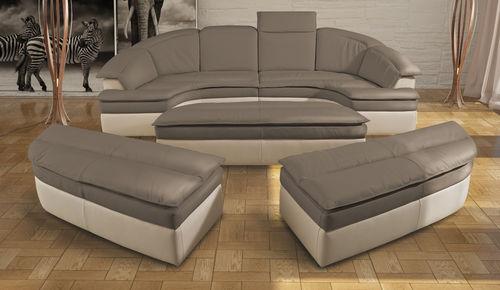 divano modulare / a semicerchio / moderno / in tessuto