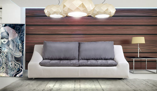 divano modulare / moderno / in pelle / 2 posti